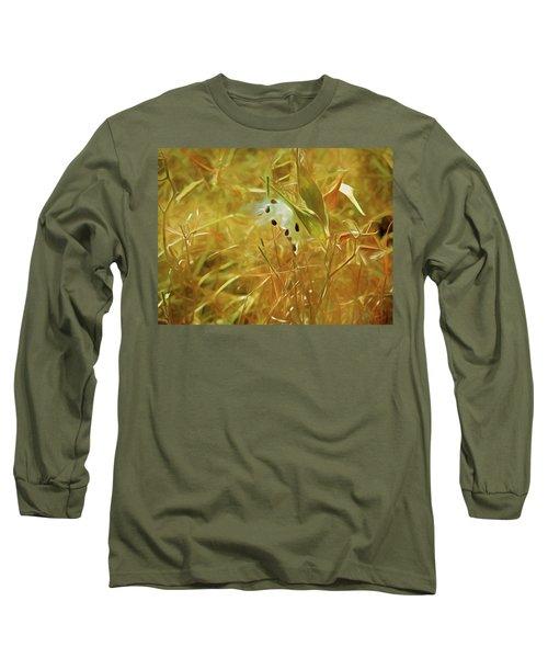 Milkweed In Sunlight 2 Long Sleeve T-Shirt