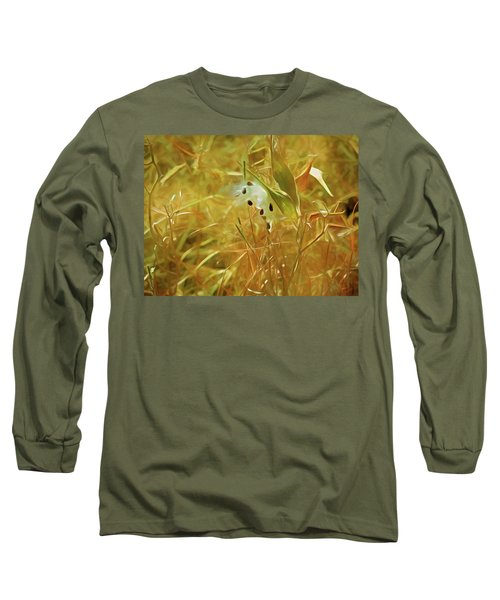 Milkweed In Sunlight 2 Long Sleeve T-Shirt