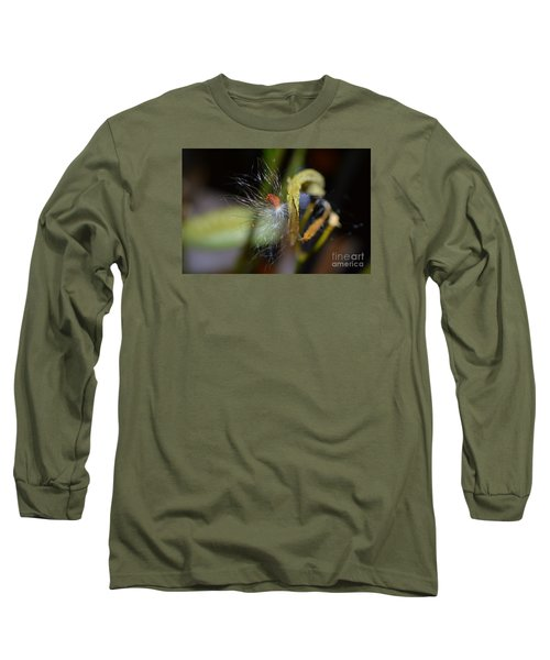 Long Sleeve T-Shirt featuring the photograph Milkweed Seed by Lew Davis
