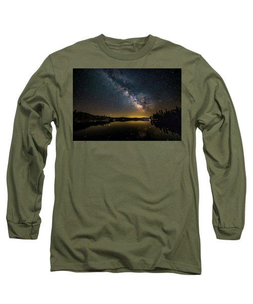 Milky Way At Hunter Cover Long Sleeve T-Shirt