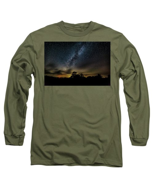 Milky Way Over The Blue Ridge Long Sleeve T-Shirt