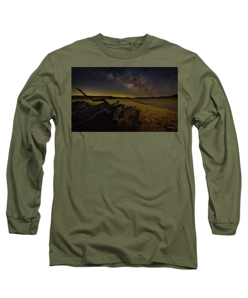Milky Way Over The Canyon  Ranch Long Sleeve T-Shirt