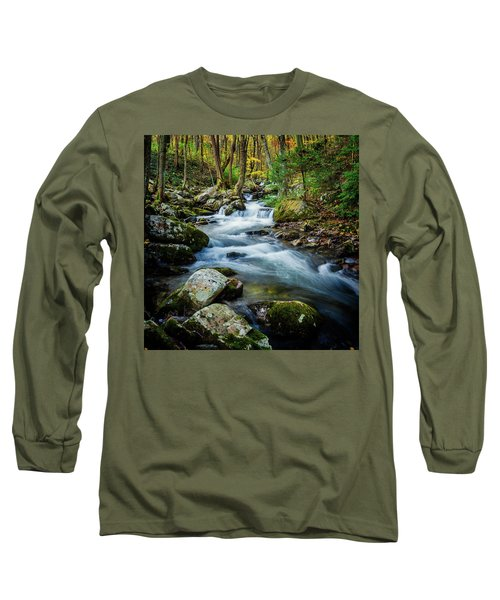 Mill Creek In Fall #3 Long Sleeve T-Shirt