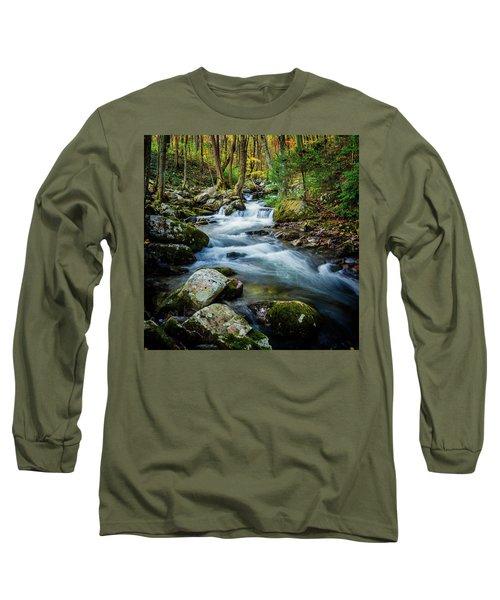 Mill Creek In Fall #3 Long Sleeve T-Shirt