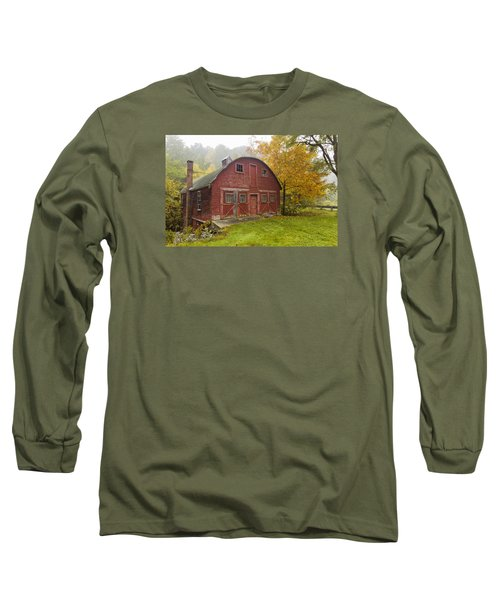Long Sleeve T-Shirt featuring the photograph Mill In Autumn by Tom Singleton