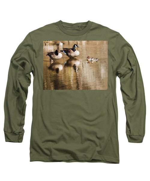 Millards And Green-wing Teal Long Sleeve T-Shirt by Edward Peterson