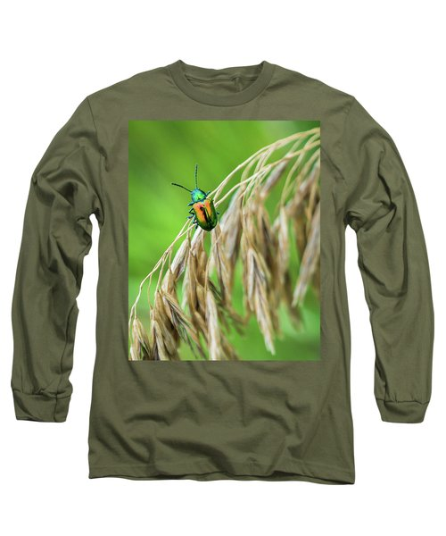 Long Sleeve T-Shirt featuring the photograph Mini Metallic Magnificence  by Bill Pevlor