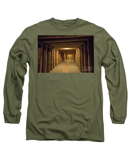 Long Sleeve T-Shirt featuring the photograph Mining Tunnel by Juli Scalzi