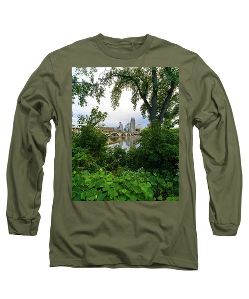 Minneapolis Through The Trees Long Sleeve T-Shirt