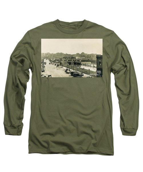 Long Sleeve T-Shirt featuring the photograph Miramar Pool, 1927 by Cole Thompson