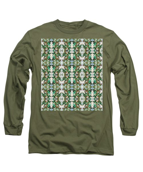 Mirror Image Of Acorns On An Oak Tree Long Sleeve T-Shirt