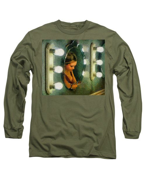 Mirror Mirror On The Wall Long Sleeve T-Shirt by Jeff Kolker