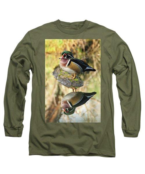 Mirrored Wood Duck Long Sleeve T-Shirt