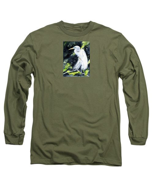 Miss April - Great Egret Long Sleeve T-Shirt