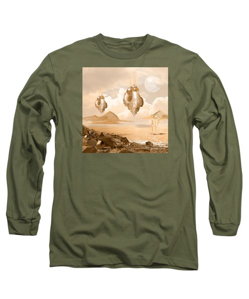 Long Sleeve T-Shirt featuring the digital art Mission In A Far Planet by Alexa Szlavics