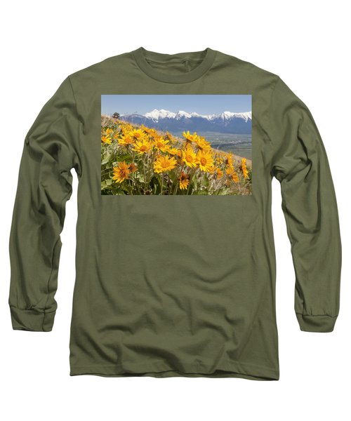 Mission Mountain Balsam Blooms Long Sleeve T-Shirt