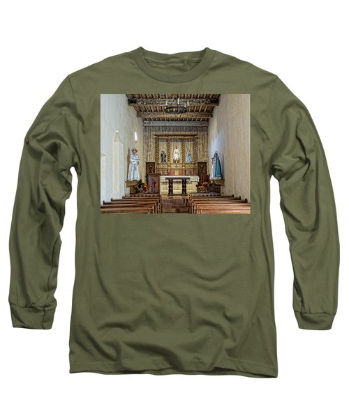 Long Sleeve T-Shirt featuring the photograph Mission San Juan Capistrano Sanctuary - San Antonio by Stephen Stookey