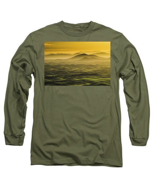 Misty Morning At Palouse. Long Sleeve T-Shirt