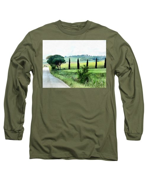 Misty Morning In Umbria Long Sleeve T-Shirt