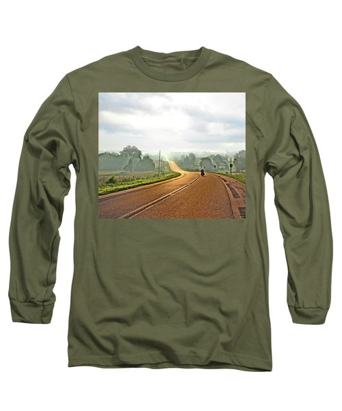 Misty Morning Ride Arkansas Long Sleeve T-Shirt
