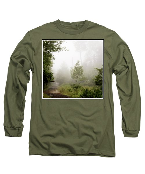 Misty Road At Forest Edge, Pocono Mountains, Pennsylvania Long Sleeve T-Shirt by A Gurmankin