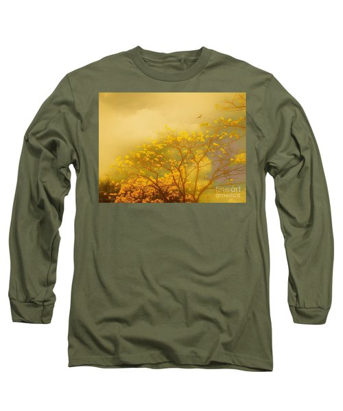 Misty Yellow Hue -poui Long Sleeve T-Shirt