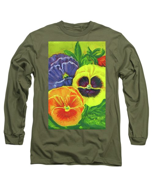Mixed Pansy Seed Packet Long Sleeve T-Shirt