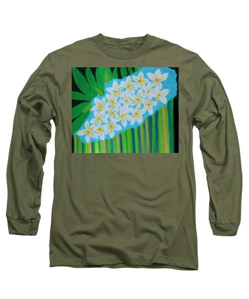 Mixed Up Plumaria Long Sleeve T-Shirt