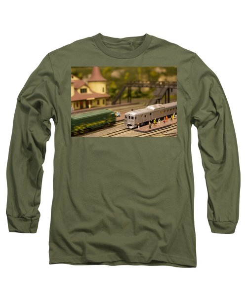 Long Sleeve T-Shirt featuring the photograph Model Trains by Patrice Zinck