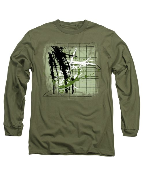 Modern Green Long Sleeve T-Shirt by Melissa Smith