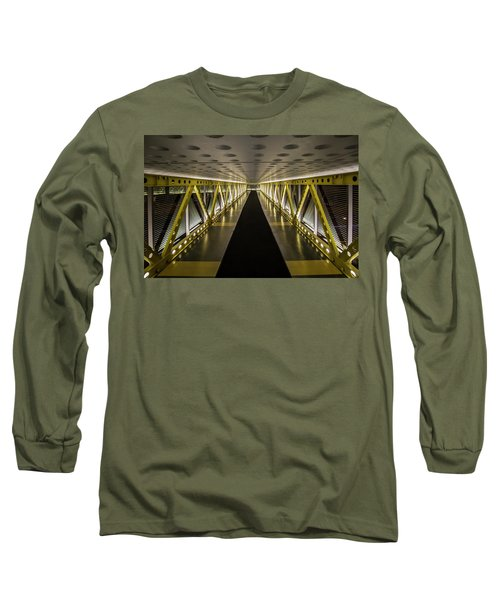 modern looking pedway in Chicago Long Sleeve T-Shirt