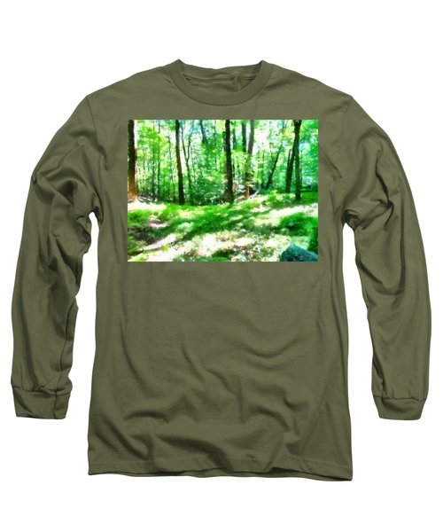 Long Sleeve T-Shirt featuring the photograph Mohegan Lake Forever Green by Derek Gedney