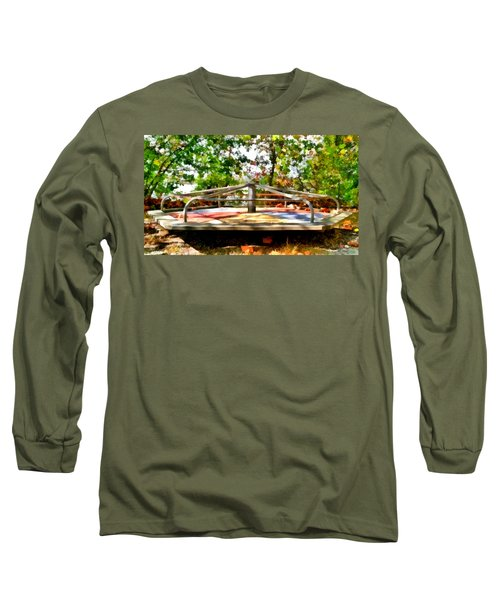 Long Sleeve T-Shirt featuring the painting Mohegan Lake Merry-go-round by Derek Gedney