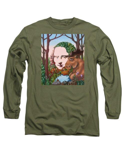 Mona Lisa . Earth Long Sleeve T-Shirt