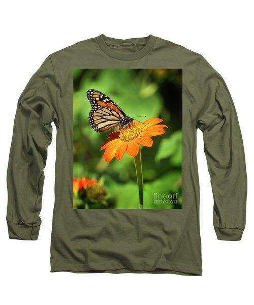 Monarch Butterfly II Vertical Long Sleeve T-Shirt