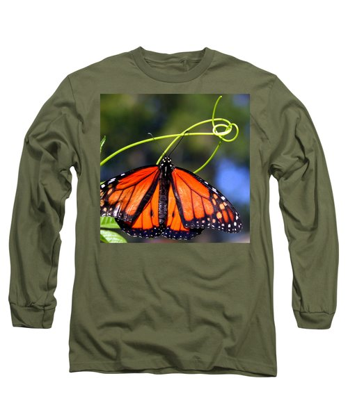 Monarch Butterfly Long Sleeve T-Shirt by Laurel Talabere