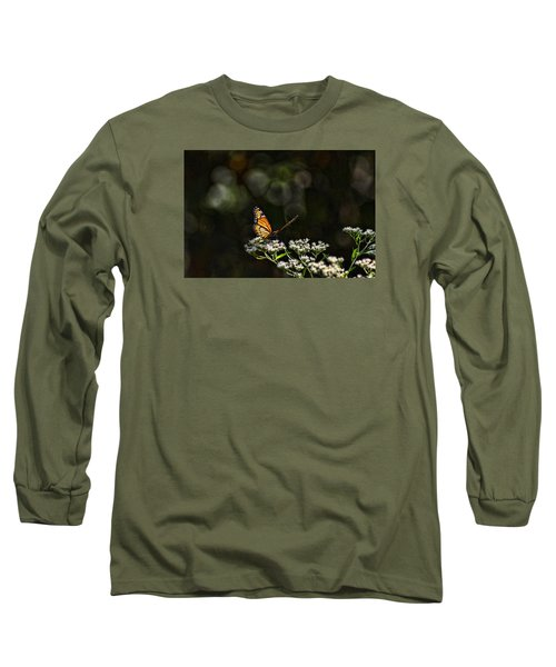 Monarch Butterfly Long Sleeve T-Shirt by Rick Friedle