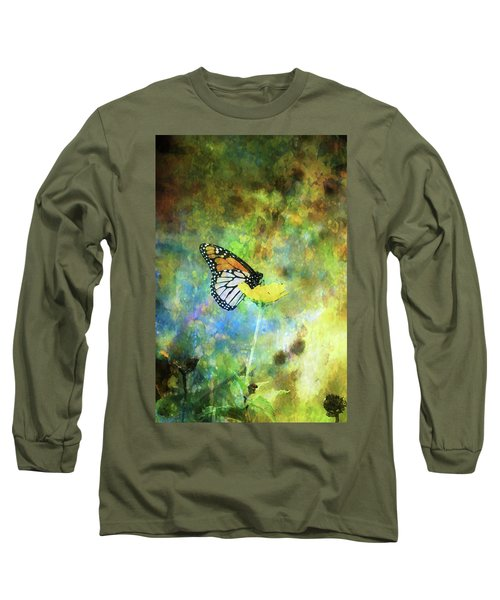 Monarch In Azure And Gold 5647 Idp_2 Long Sleeve T-Shirt
