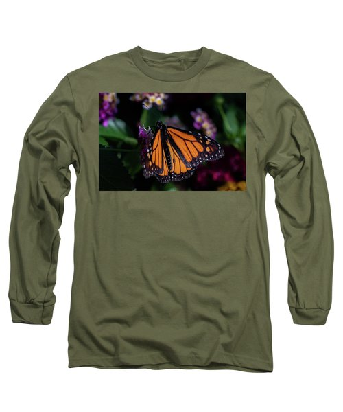 Long Sleeve T-Shirt featuring the photograph Monarch by Jay Stockhaus