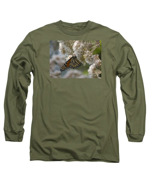 Monarch Pink Long Sleeve T-Shirt by Randy Bodkins
