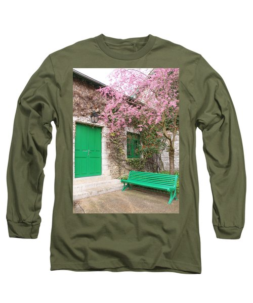 Monet's Bench Long Sleeve T-Shirt by Catherine Alfidi