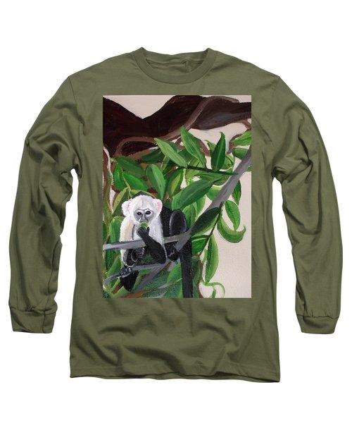 Monkey Detail 2 From Mural Long Sleeve T-Shirt