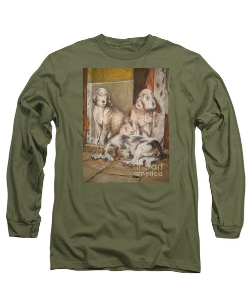 Long Sleeve T-Shirt featuring the painting Monotony by Rushan Ruzaick