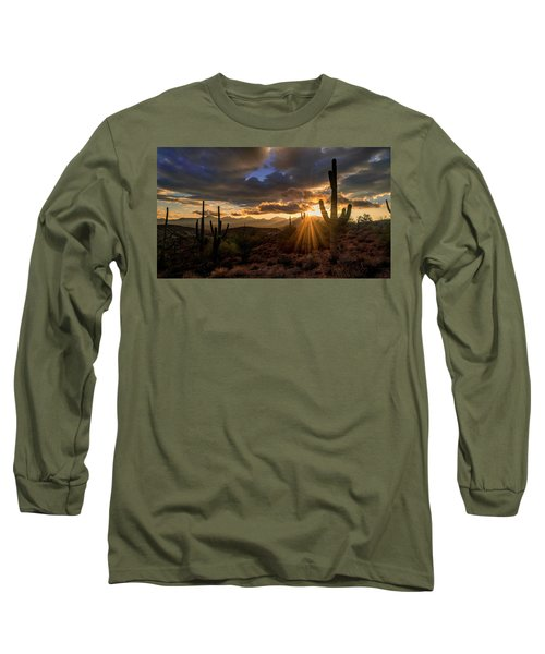 Long Sleeve T-Shirt featuring the photograph Monsoon Sunburst by Anthony Citro