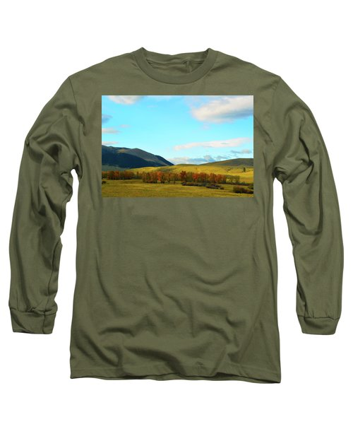 Montana Fall Trees Long Sleeve T-Shirt