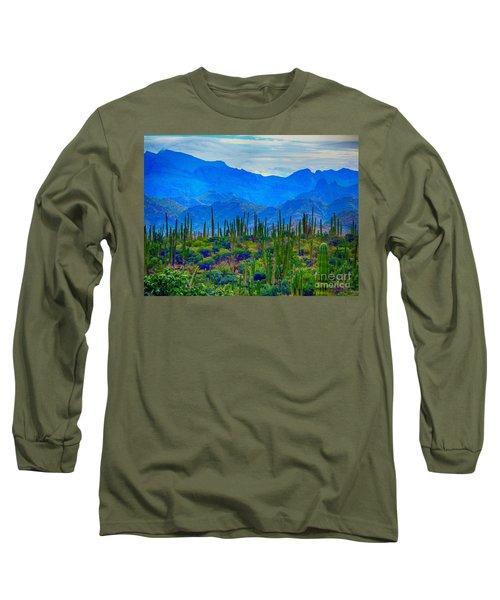 Montanas Cerca De Loreto Long Sleeve T-Shirt by Gerhardt Isringhaus