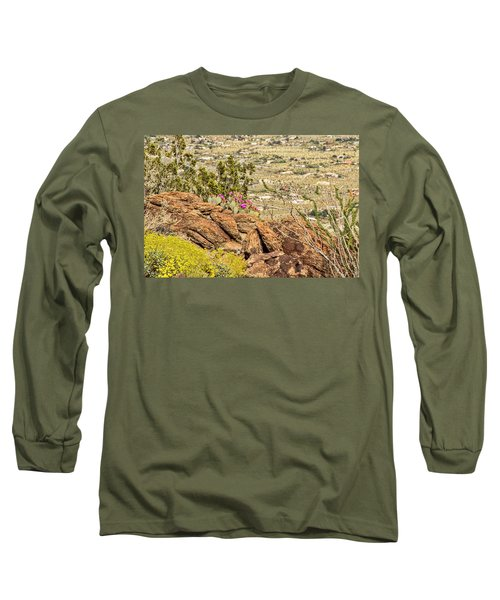 Montezuma Rd Cliff Side Flower Garden Long Sleeve T-Shirt
