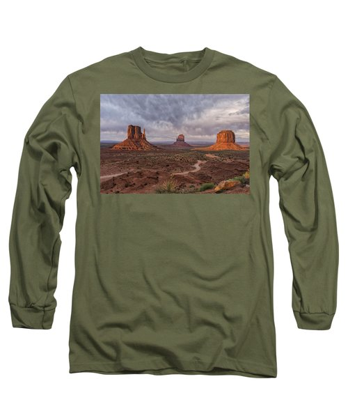 Monument Valley Mittens Az Dsc03662 Long Sleeve T-Shirt by Greg Kluempers