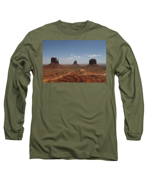 Long Sleeve T-Shirt featuring the photograph Monument Valley Navajo Park by Christopher Kirby