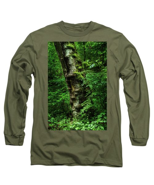 Moody Tree In Forest Long Sleeve T-Shirt